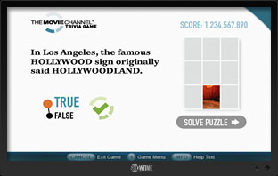 The Movie Channel Trivia Game