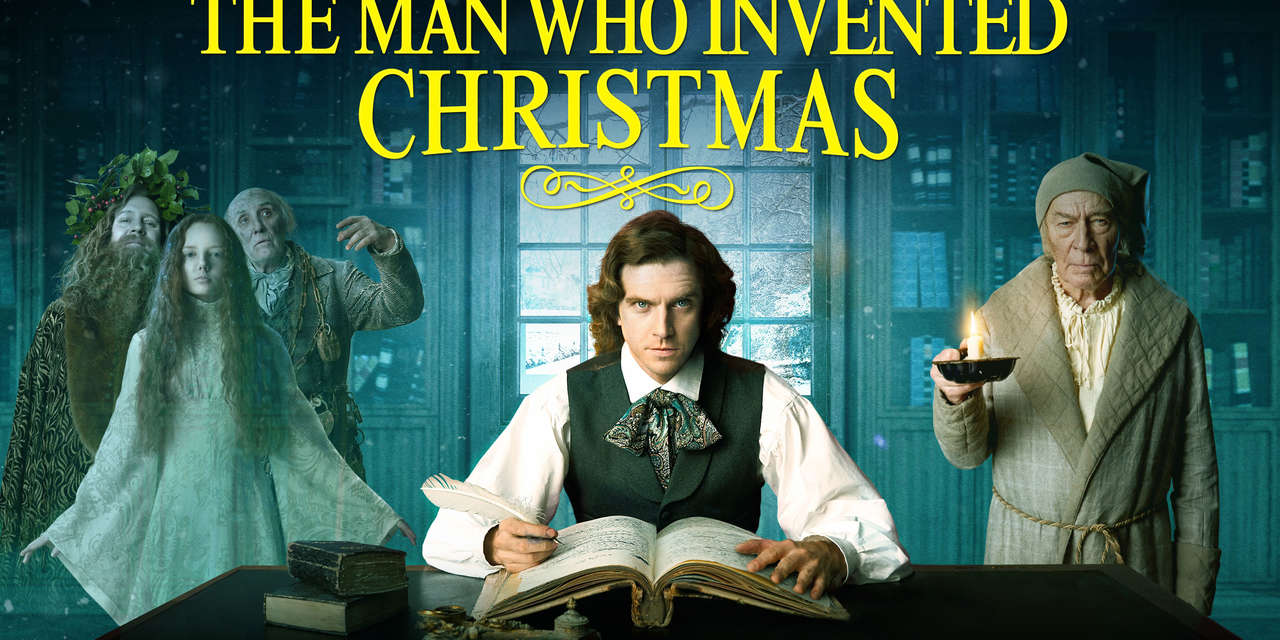 The Man Who Invented Christmas Poster.The Man Who Invented Christmas 2017 Showtime