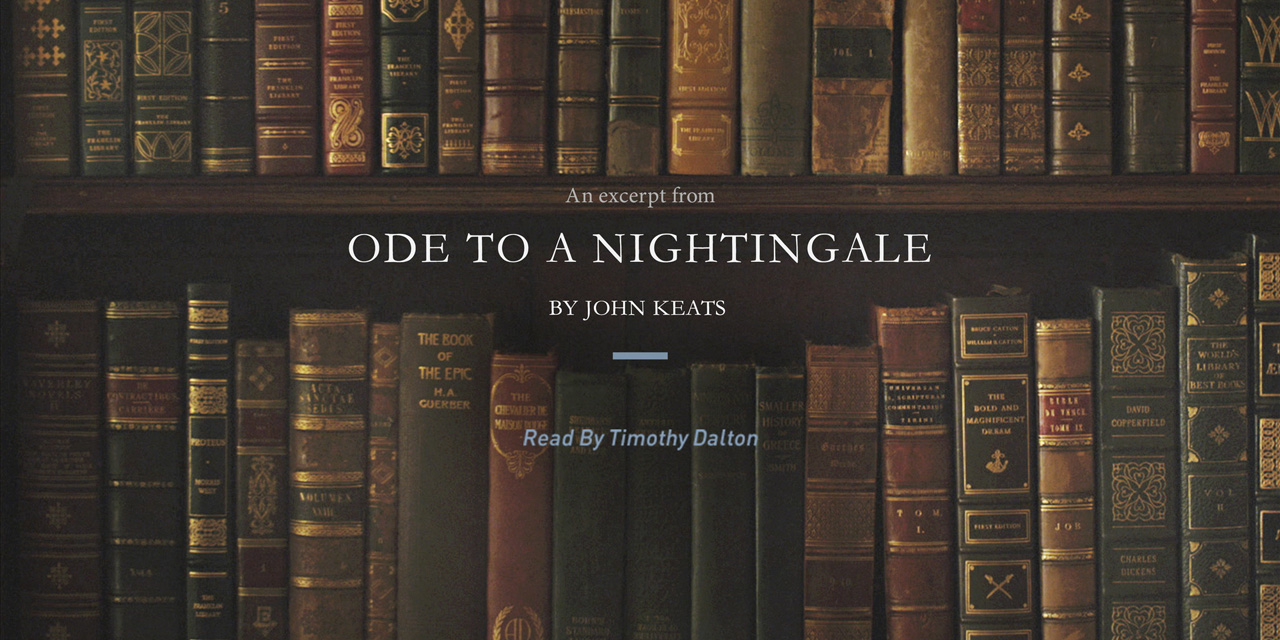 essay on john keats ode to a nightingale Explain the critical appreciation of john keats' ode to a nightingale john keats' ode to a nightingale features the themes of nature and its beautiful.