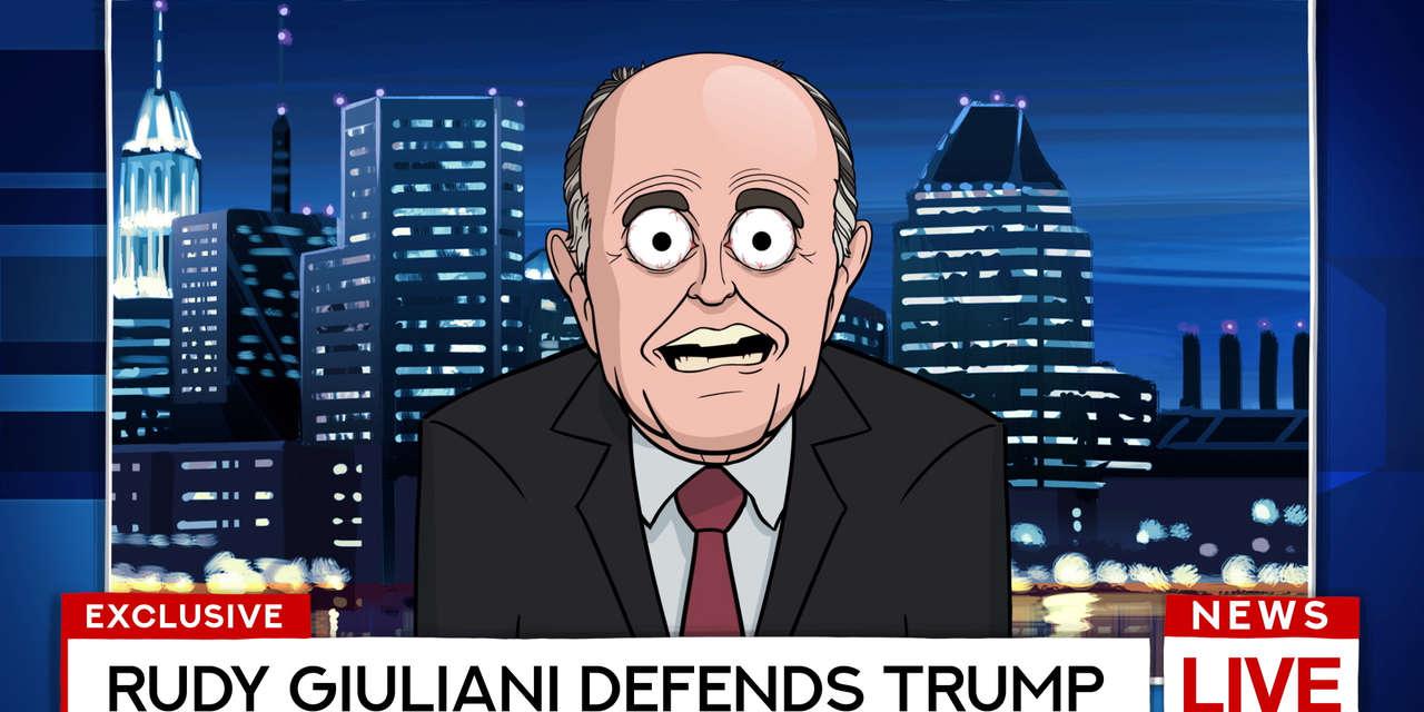 our cartoon president  rudy giuliani defends trump
