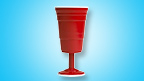 Shameless Red Cup Wine Glass