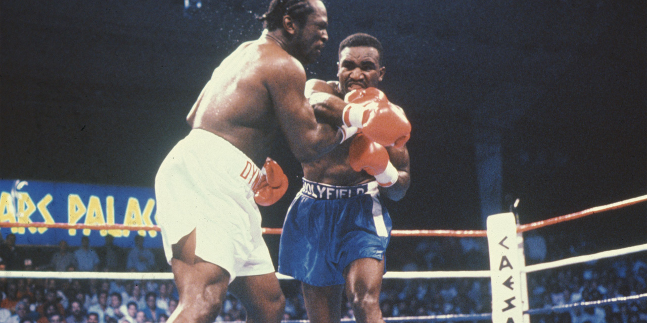 Image result for evander holyfield vs dokes